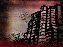 Edificio de Grunge ilustración del vector