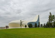 Edificio de Heydar Aliyev Center Fotografía de archivo libre de regalías