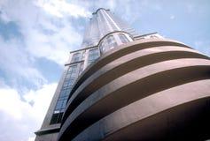 Edificio de highrise inferior granangular Foto de archivo