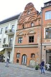 Edificio de Kaunas agosto 21,2014-Historic en Kaunas en Lituania Fotografía de archivo libre de regalías