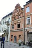 Edificio de Kaunas agosto 21,2014-Historic en Kaunas en Lituania Foto de archivo
