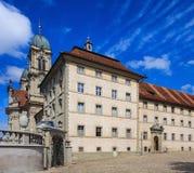 Edificio de la abadía benedictina en Einsiedeln, Suiza Foto de archivo