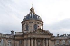 Edificio de la academia francesa, París, Francia imagenes de archivo