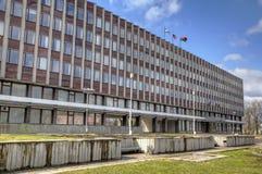 Edificio de la administración de la ciudad en Petrozavodsk Imágenes de archivo libres de regalías