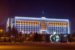 Edificio de la administración municipal de la ciudad de Almaty Foto de archivo libre de regalías