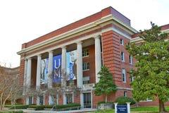 Edificio de la administración principal en la universidad de Memphis foto de archivo