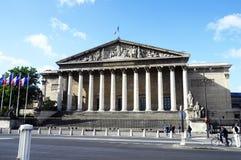 Edificio de la asamblea nacional en París Fotografía de archivo