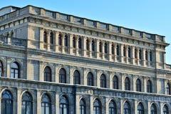 Edificio de la bolsa de acción anterior de Koenigsberg Kaliningrado, Rusia Arquitecto Muller, neo-renacimiento, construido en 187 fotografía de archivo libre de regalías
