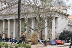 Edificio de la catedral en el centro de ciudad de Buenos Aires, la Argentina Imagen de archivo libre de regalías