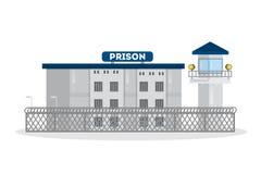 Edificio de la ciudad de la prisión Imágenes de archivo libres de regalías