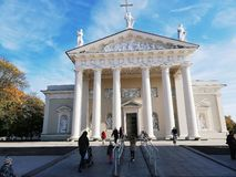 Edificio de la ciudad de Vilna Lituania histórico fotografía de archivo libre de regalías