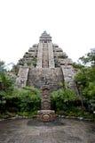 Edificio de la civilización del maya imagen de archivo