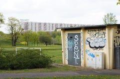 Edificio de la electricidad Foto de archivo