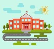 Edificio de la escuela o de la universidad Imagen de archivo