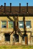 edificio de la fábrica 0ld foto de archivo libre de regalías