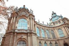 Edificio de la fachada del castillo de Vajdahunyad Budapest, Hungría Imagen de archivo