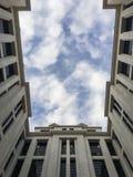 Edificio de la facultad del ingeniero en la universidad de la suposición Imagenes de archivo