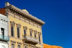 Edificio de la fiebre del oro Foto de archivo libre de regalías