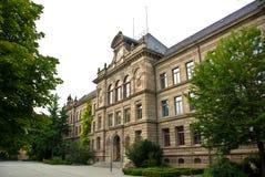 Edificio de la High School secundaria Foto de archivo