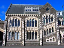 Edificio de la historia en Christchurch foto de archivo
