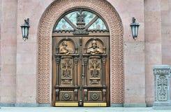 Edificio de la iglesia apostólica armenia imágenes de archivo libres de regalías