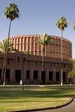 Edificio de la música delante del estadio de fútbol de la universidad Fotografía de archivo libre de regalías