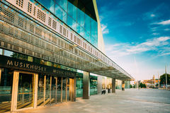 Edificio de la música Hall Music Centre In Helsinki, Finlandia imágenes de archivo libres de regalías