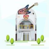 Edificio de la música rock - ilustración del vector