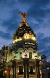 Edificio de la metrópoli en Madrid Imagenes de archivo