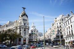 Edificio de la metrópoli, Madrid, España fotografía de archivo