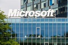Edificio de la Microsoft Corporation Fotos de archivo libres de regalías