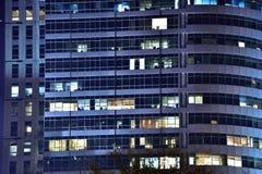 Edificio de la noche Fotografía de archivo libre de regalías