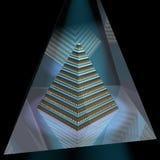 Edificio de la pirámide stock de ilustración
