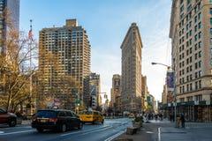 Edificio de la plancha - Nueva York, los E.E.U.U. fotos de archivo