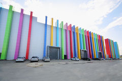 Edificio de la preocupación Glavkino de la película Imagen de archivo libre de regalías