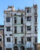Edificio de la ruina en vieja Havana Cuba Foto de archivo