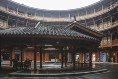 Edificio de la tierra en la ciudad antigua del luodai, China imagen de archivo libre de regalías