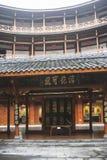 Edificio de la tierra en la ciudad antigua del luodai, China imagen de archivo