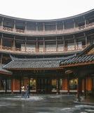 Edificio de la tierra en la ciudad antigua del luodai, China fotos de archivo libres de regalías