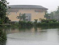 Edificio de la tierra en la ciudad antigua de Luodai, China imagen de archivo libre de regalías