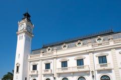 Edificio de la torre del puerto de la ciudad de Valencia en España Fotos de archivo libres de regalías