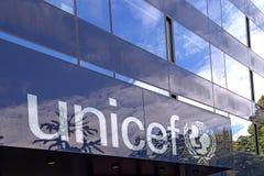 Edificio de la Unicef en Ginebra Imagenes de archivo