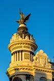 Edificio de la Union y el费尼克斯,一个历史建筑在科多巴,西班牙 在1927年修造 免版税库存图片