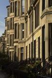 Edificio de la vivienda en la calle de Glasgow Foto de archivo