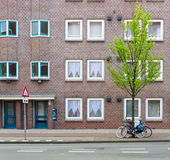 Edificio de ladrillo en Amsterdam Fotografía de archivo