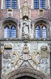 Edificio de ladrillo histórico de Cambridge Inglaterra Imágenes de archivo libres de regalías