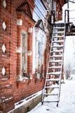 Edificio de ladrillo rojo Foto de archivo libre de regalías