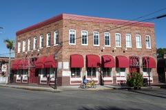 Edificio de ladrillo rojo en Key West Fotografía de archivo libre de regalías