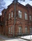 Edificio de ladrillo rojo viejo foto de archivo