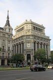 Edificio de Las Cariatides, MADRID, SPANIEN Arkivbilder